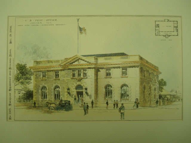 US Post Office , Joliet, IL, 1900, James Knox Taylor