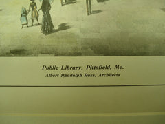 Public Library , Pittsfield, ME, 1904, Albert Randolph Ross