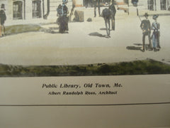 Public Library , Old Town, ME, 1904, Albert Randolph Ross