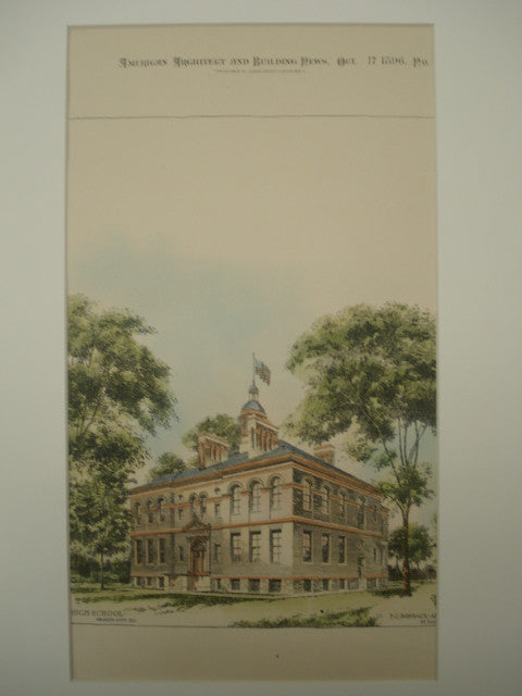 High School , Granite City, IL, 1896, F. C. Bonsack