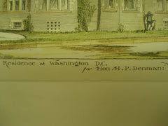 Residence of Hon. H. P. Denman , Washington , DC, 1886, Messrs. Fuller & Wheeler