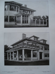 Veranda on the House of Norton Wigglesworth, Esq., Milton, MA, 1906, George H. Ingraham