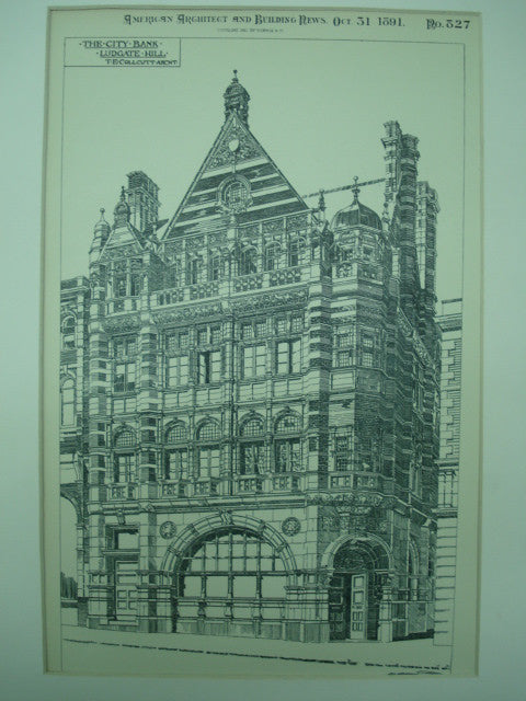 City Bank , Ludgate Hill, London, England, UK, 1891, T. E. Collcutt