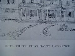 Beta Theta Pi at Saint Lawrence University, Canton, NY, 1902, Unknown