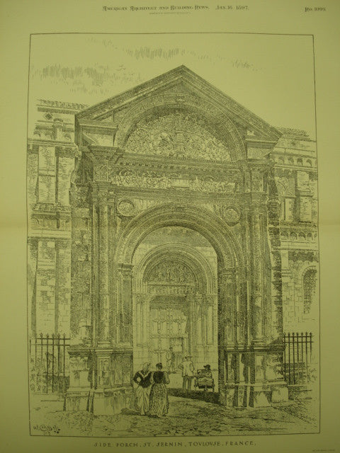 Side Porch of St. Sernin , Toulouse, France, EUR, 1897, Unknown