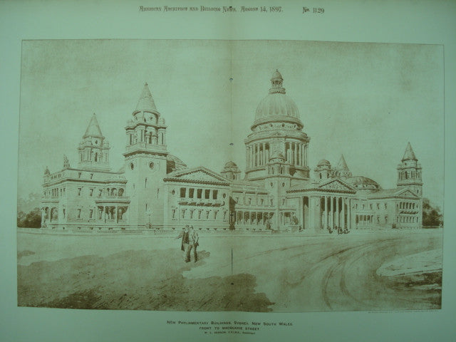New Parliamentary Buildings , Sydney, New South Wales, AUS, 1897, W. L. Vernon