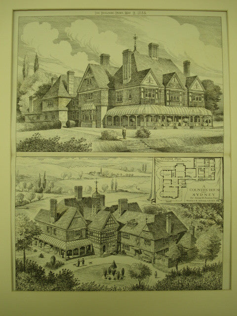 Country House for James R. Fairfax, Esq., Sydney, England, UK, 1884, Maurice B. Adams
