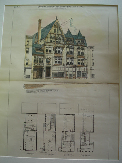 YMCA Building , Middletown, CT, 1893, Cook, Hapgood & Co.