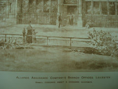 Alliance Assurance Company's Branch Offices , Leicester, England, UK, 1891, Goddard, Paget & Goddard