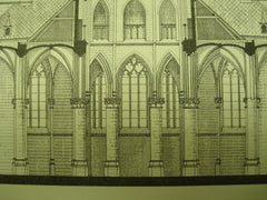Hulst Church , Zeeland, Holland, EUR, 1883, J. H. P. Cuypers