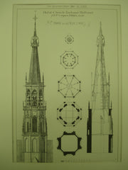 Hulst Church Steeple , Zeeland, Holland, EUR, 1883, J. H. P. Cuypers