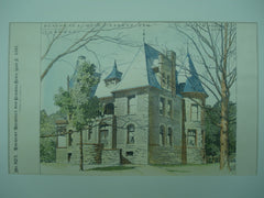 Residence of A. J. Parker, Esq. , Toronto, CAN, 1893, Dick & Wickson
