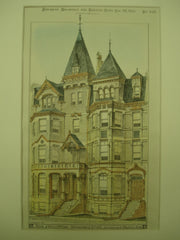 Houses of Horace Billings and H. Tuttle on Commonwealth Avenue , Boston, MA, 1880, Kirby & Lewis