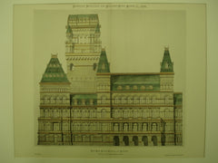 Lateral Elevation of the New State Capitol , Albany, NY, 1876, James R. Osgood