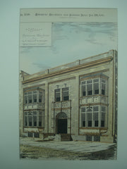 Offices for G. A. Hohart and W. Pennington , Paterson, NJ, 1880, Charles Edwards