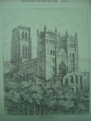 Durham Cathedral , Durham, England, UK, 1891, Unknown