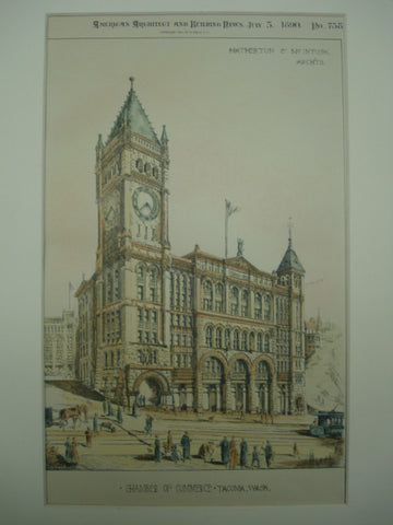 Chamber of Commerce , Tacoma, WA, 1890, Hatherton & McIntosh