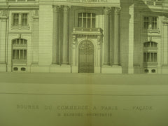 Facade of the Bourse du Commerce , Paris, France, EUR, 1890, M. Blondel