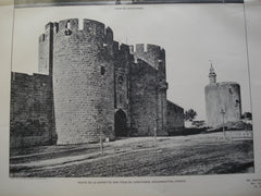 Porte de la Gardette and Tour de Constance , Aiguesmortes, France, EUR, 1903, Unknown
