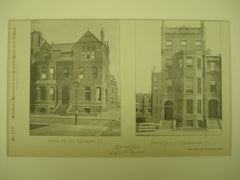 House No. 282 on Newbury St. and House No. 272 on Marlborough Street , Boston, MA, 1884, W. W. Lewis