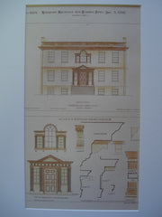 Details of the Van Rensselaer Manor House , Albany, NY, 1892, Measured and Drawn by Gilbert F. Crump