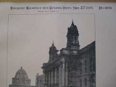 City Hall and Hall of Records , San Francisco, CA, 1893, Augustus Laver