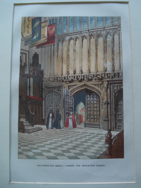 Henry the Seventh's Chapel: Westminster Abbey , London, England, UK, 1845, Unknown