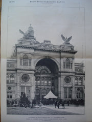 Entrance to the Government Building for the World's Columbian Exhibition , Chicago, IL, 1894, W.J. Edbrooke