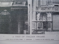 Trio of Italian Organs, n/a, 1894, Unknown