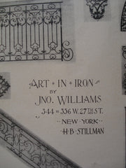 Art in Iron , New York, NY, 1894, Jno. Williams