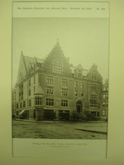 Building of the Young Men's Christian Association , Boston, MA, 1884, Sturgis & Brigham