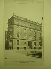 House of Wm. G. Saltonstall, Esq., Boston, MA, 1887, Peabody & Stearns