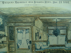Entrance Halls of No. 303 and 304 on West 77th Street , New York, NY, 1891, Lamb & Rich