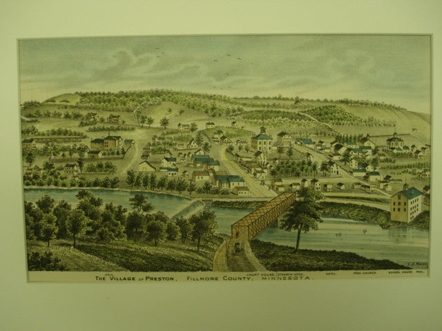 Village of Preston , Fillmore Co., MN, 1874, unknown