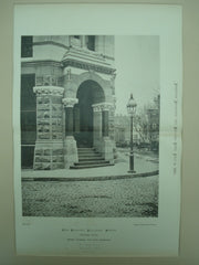 Bedford Building Entrance Porch, Boston, MA, 1876, Cummings and Sears