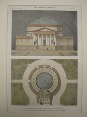 Design for the Confederate Memorial Competition , Richmond, VA, 1911, Walker & Hazzard and Wendell P. Blagden
