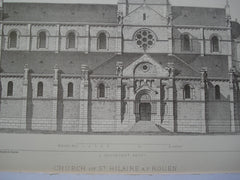 Church of St. Hilaire , Rouen, France, EUR, 1878, L. Sauvageot