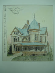 Residence of Jno. E. Ware on Leighton Ave., Anniston, AL, 1889, Chisolm & Green