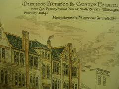 Business Premises for the Gunton Estate , Washington, DC, 1884, Hornblower & Marshall