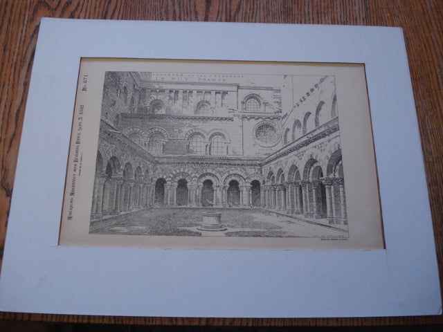 Cloister of the Cathedral , Le Puy, France, EUR, 1892, Unknown