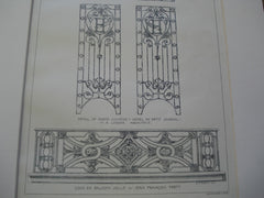 Louis XVI Balcony Grille & Detail of Porte Cochere-Hotel Du Petit Journal , Paris, France, EUR, 1896, Jean Francois Forty & M.A. Leroux