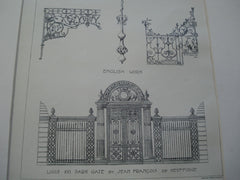 English Work, including Louis XVI Park Gates , 1896, Jean Francois De Neufforge