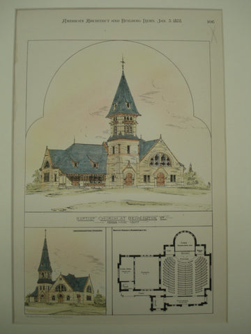 Baptist Church , Bennington, VT, 1878, Arthur Vinal