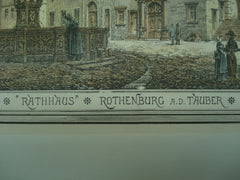 Rathhaus, Rothenburg ob der Tauber, Germany, EUR, 1878, Unknown