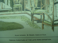 French Furniture at the Late Paris Exposition , Paris, France, EUR, 1901, Damon & Collin