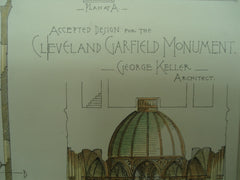 Accepted Design for the Garfield Monument , Cleveland, OH, 1884, George Keller
