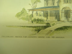 Country House for Mr. Johnson , Lond Island, NY, 1893, E. G. W. Dietrich