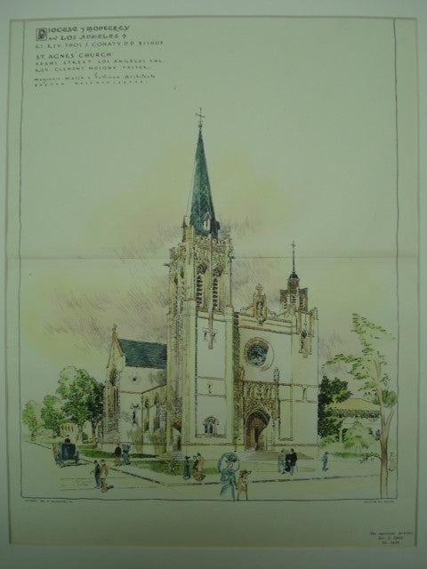 St. Agnes Church , Los Angeles, CA, 1903, Maginnis Walsh & Sullivan