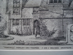 Fonthill, Henley-on-Thames, England, UK, 1881, J and J Belcher