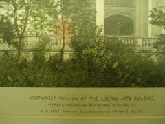 Liberal Arts Building at the World's Columbian Exhibition , Chicago, IL, 1893, G.B. Post